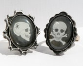 SALE Halloween Ring Halloween Gift For Her Skull Cameo Halloween Fashion