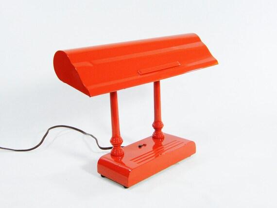 RESERVED for lizfurze Vintage Tangerine Desk Lamp