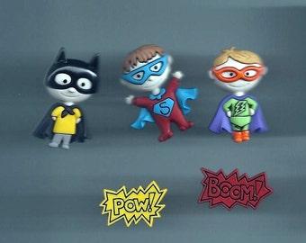 I Am a Hero Novelty Buttons/ Sewing supplies / DIY craft supplies / Plastic Buttons / Party Supplies / Kids Craft supplies