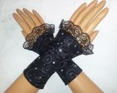 Ethereal Universe  Fingerless Gloves (Black)