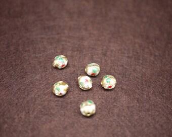 Golden Cloisonne Beads 11mm - 10pcs - (0554)