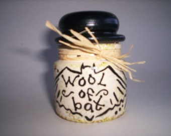 Wool of Bat Potion Bottle Hand Painted Halloween Witch