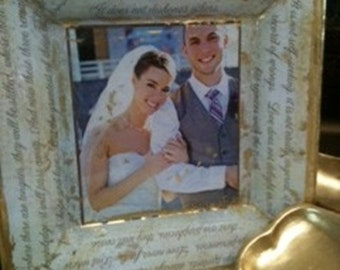 Custom Wedding Photograph Decoupage Plate