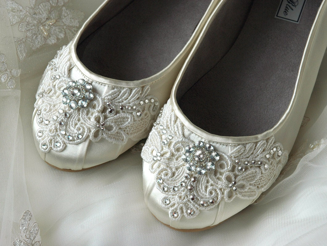 Womens Wedding Shoes Lace Wedding Ballet Flats Accessories