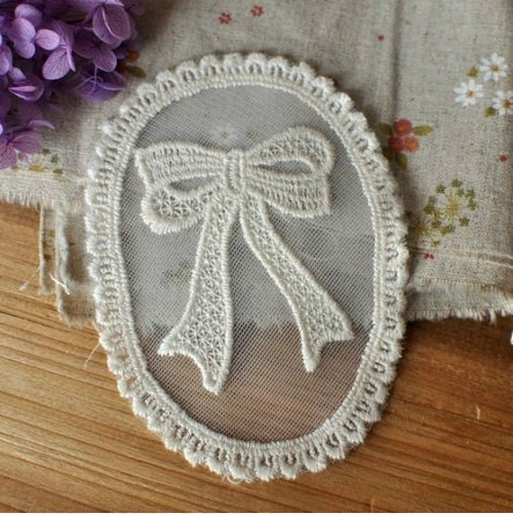 2Pcs Lace Fabric Doily Trim Lace Fabric Trim Embroidery Lace Gauze