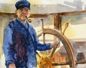 The WHEELSMAN----Watercolor By Ray Lockhart