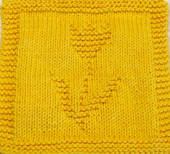 Knitting Cloth Pattern - TULIP - PDF