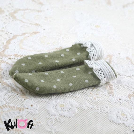 Long dark green Socks