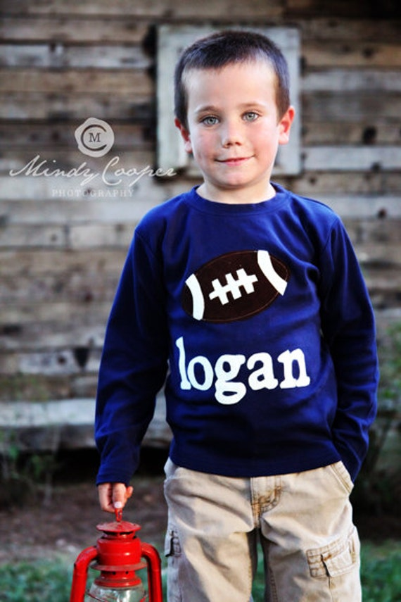 Football T-Shirt or Football One-Piece- Personalized - You Choose Shirt Color and Sleeve Length