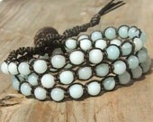 Chic  Bohemian hand tied beaded Wrap Bracelet