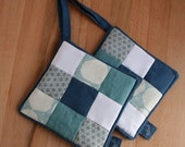 CUSTOM pot holder pair in blue xxs for ALICE