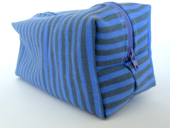 20% OFF SUMMER SALE- Boxy Pouch- Makeup bag, washable, zippered, pencil case, toiletries
