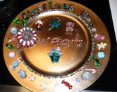 Christmas candy decorative serving plate