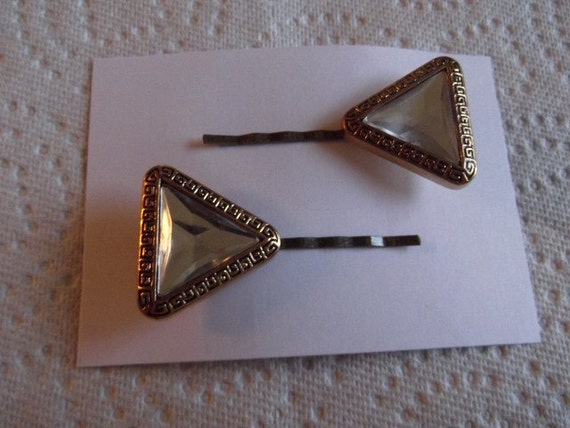 Clearance Bobby Pins Vintage Look Gold Craft Buttons Handmade