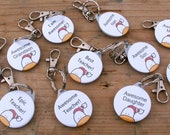 Awesome Keyrings Metal and Plastic with Bag Charm Clip High Quality 38mm