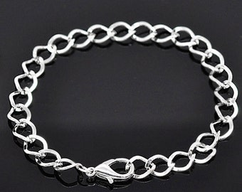 6 Link Chain Bracelets Perfect Base for Jewelry Creations - N23