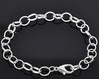 6 Link Chain Bracelets Perfect Base for Jewelry Creations - N25