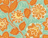 Joel Dewberry, Ornate Floral Amber, Heirloom Collection, Out of Print, One Yard