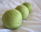 Wool Dryer Balls, Set of 3, with handmade bag