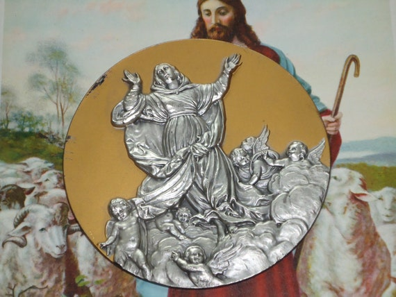 Vintage Religious Medallion Made in Italy