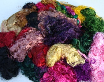 Fabulous Banana Silk Fiber Very Long And Lusterous 2 Ounces This Sampling Is A Pound