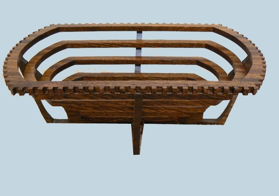 Art Deco Log Basket : Art deco basket