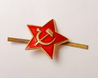 Red star, Soviet Russian Army uniform badge
