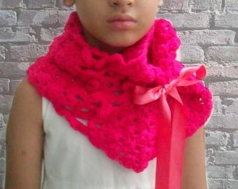 Pattern Crochet Capelet, Crochet Cowl Pattern, Infinity Scarf Crochet Pattern, Kids Crochet Cowl Pattern, Child Crochet Scarf