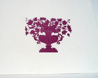 Victorian purple urn