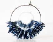 Denim Jewelry Earrings Blue Recycled Clothing by TrashN2Tees