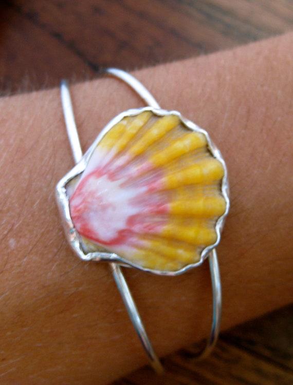 Sunrise Shell Cuff Bracelet