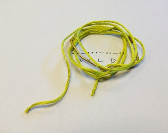 Morse Code 'Wild' Bracelet in Chartreuse