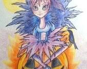 Halloween Pumpkin Queen Goth Fantasy Art Print