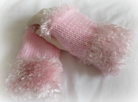 Womens Pink Fingerless Mittens, Pink Fingerless Gloves, Teen Gloves