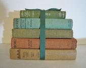 Antique Vintage Book Bundle Dog Books Dogs Beloved Collection Home Farmhouse Book Decor