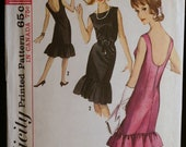 Simplicity 5817 Misses Party Dress with Hemline Flounces 60s Vintage Sewing Pattern  Sz14
