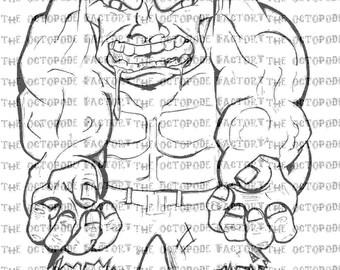 The Avengers  The Hulk digital stamp