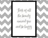 Be Happy - Quote Art Print