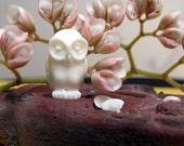 Little Hantu Owl Carved Bone Bead