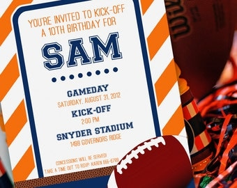Football Party Invitation | Football Birthday Invitation | Football Invitation | Football Invite | Sports Invitation | Amanda's Parties