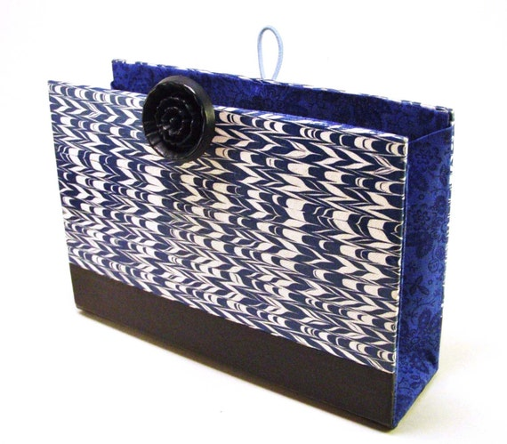 Book Clutch made from Blue Readers Digest Condensed Book