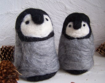 needle felted Penguins (pair) you choose colour