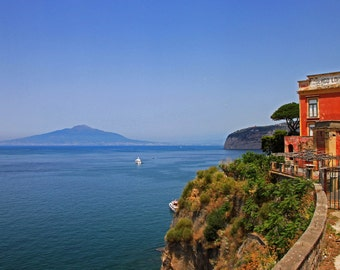 View of Vesuvius from Sorrento, Italy