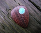 Boutique Cocobolo and Turquoise Guitar Pick