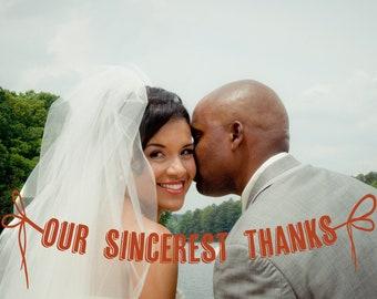 Banner Wedding Thank You Card Design