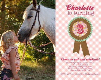 Equestrian Birthday Party Invites
