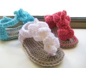 Crochet Pattern Baby Booties, Crochet Baby Sandals Pattern, INSTANT DOWNLOAD, Baby Booties Crochet Pattern, Orchid Sandals