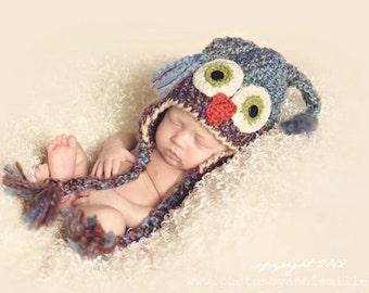 Customized Baby Boy Hat - Boy Owl Hat - Baby Owl Hat - Newborn Owl Hat - Boy Owl Costume Hat - Baby Boy Gift - by JoJosBootique