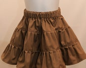 Khaki or Navy Blue Tiered Ruffle Skirt for School - Suitable for many school uniforms  2T 3T 4T 5 6