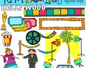 INSTANT DOWNLOAD Hollywood Digital Clip art clipart
